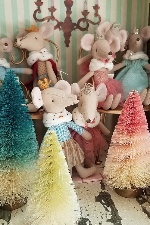 Pastel Mini Bottle Brush Trees Set of 3