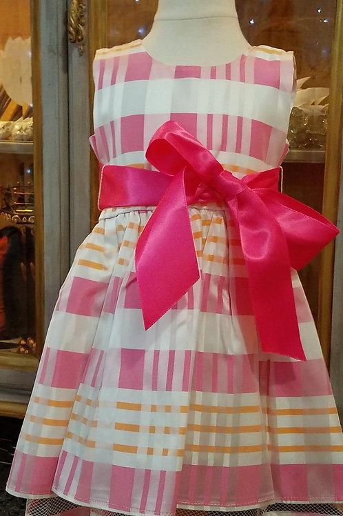 Tea Party Pink Plaid Dress