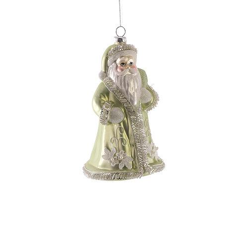 Peace on Earth Santa Glass Ornament