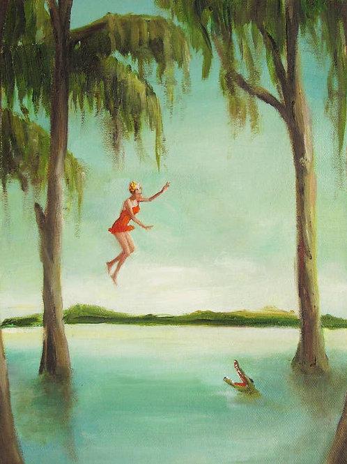 """Janet Hill Print:  Crocodile Jumper, 8.5""""x11"""""""
