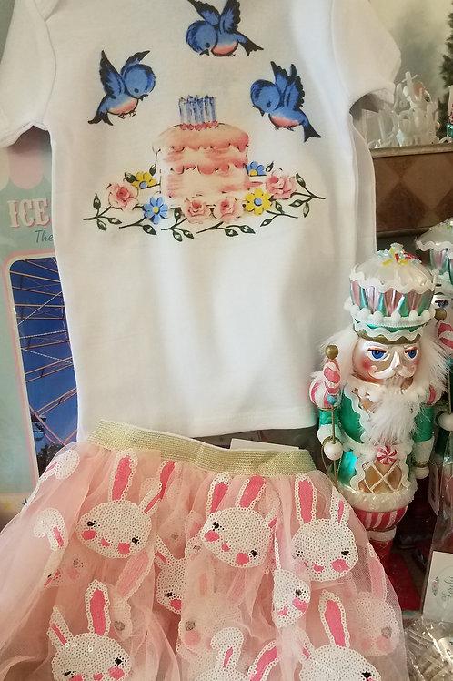 Birthday Cake Tee for 1st Birthday