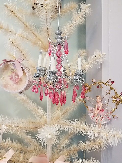 Pink Paris Holiday Chandelier Ornament