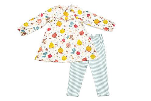 Fruit Homes Dress & Leggings-Baby -Toddler