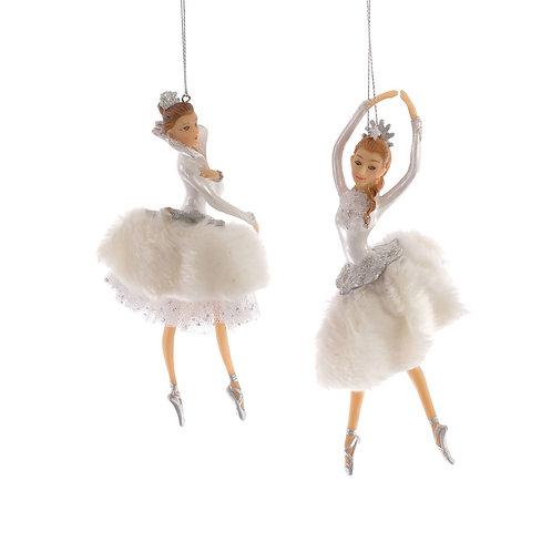 Katherine's Collection Winter Fur Ballerinas set of 2