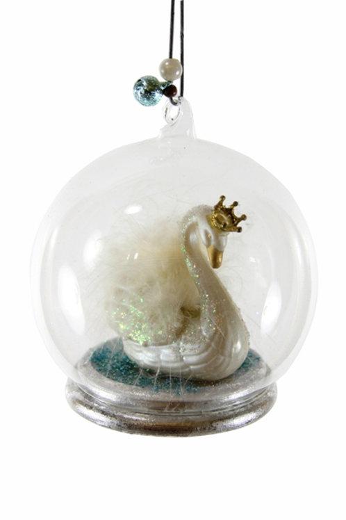 Ornament Swan Lake Globe