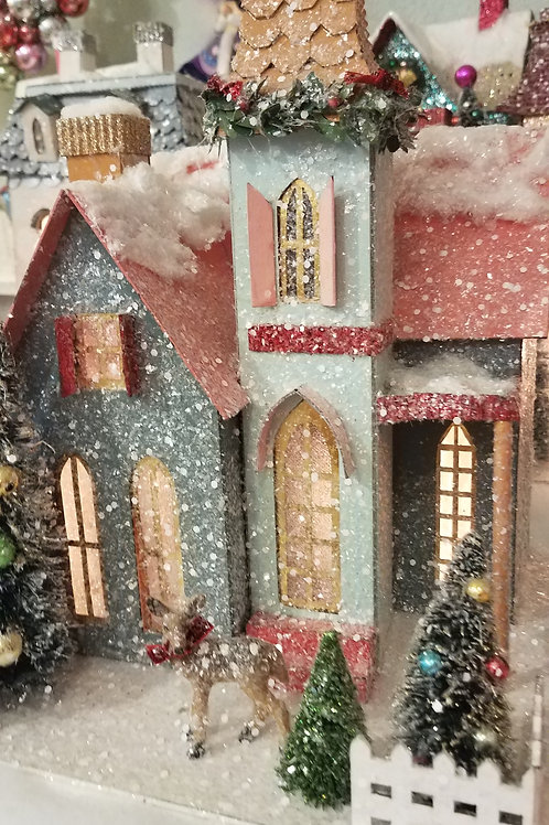 Cody Foster Holiday Victorian Home w/ Deer