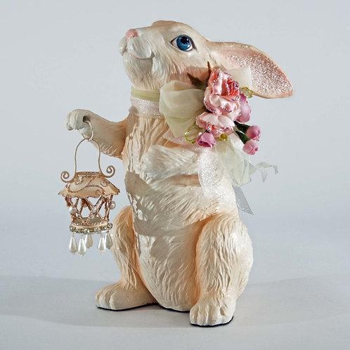 Rabbit with Lantern Tabletop Figurine