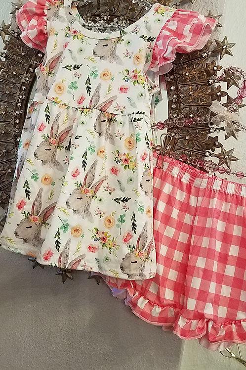 Pink Bunny Dress & Short