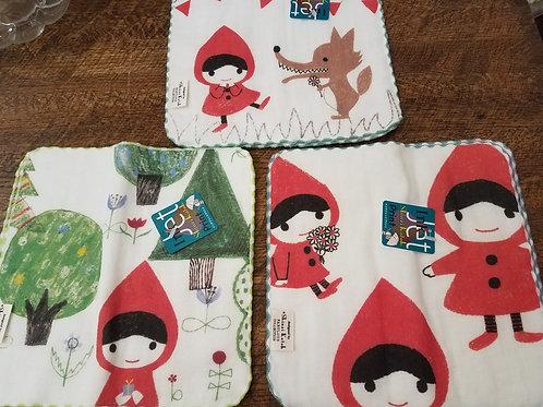 Shinzi Katoh Red Riding Hood Set of 3 Washcloths