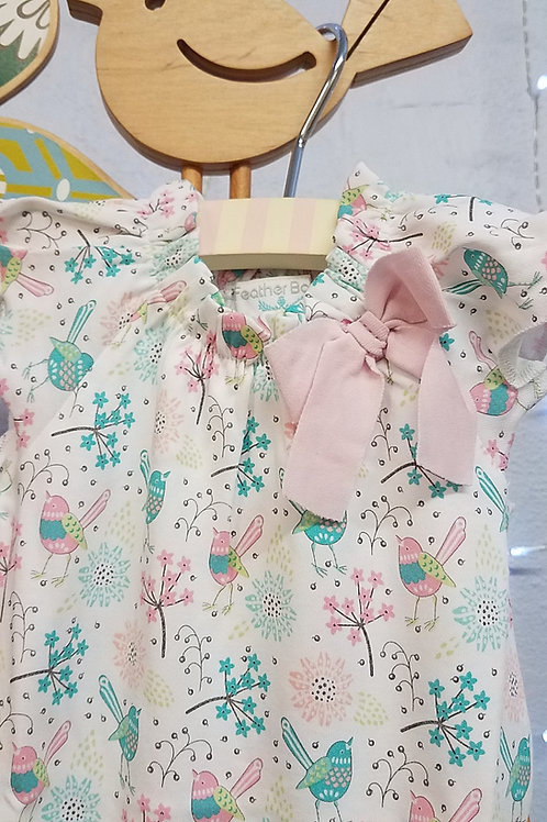 Pima Cotton Newborn Baby Rompers-Feather Baby