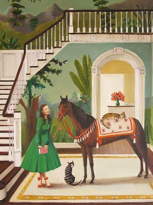 """Janet Hill Print:  House Horse, 11""""x14"""""""