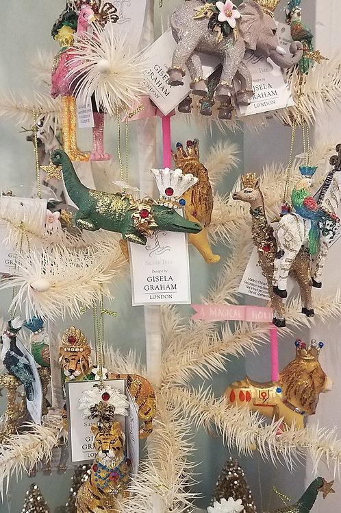 Magical  Flamingo & Ostrich Ornaments - Set of 2