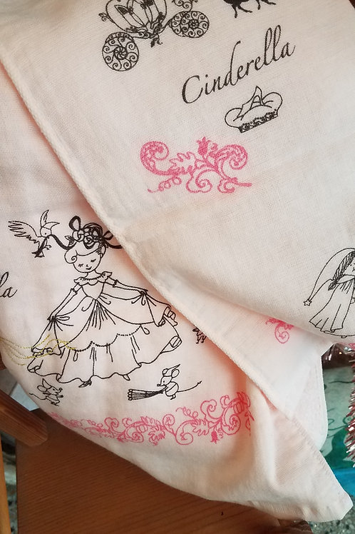 Shinzi Katoh Cinderella Bath Towel/ Stroller Blanket & Face Cloth