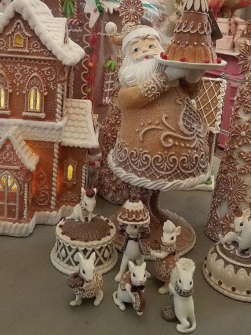 """16.75"""" Gingerbread Santa"""