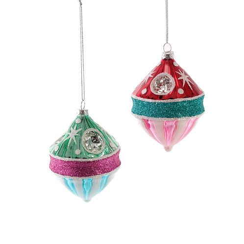 Katherine's Collection Retro Galaxy Ornaments Set of 2