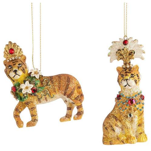 Magical  Tigers Ornaments - Set of 2