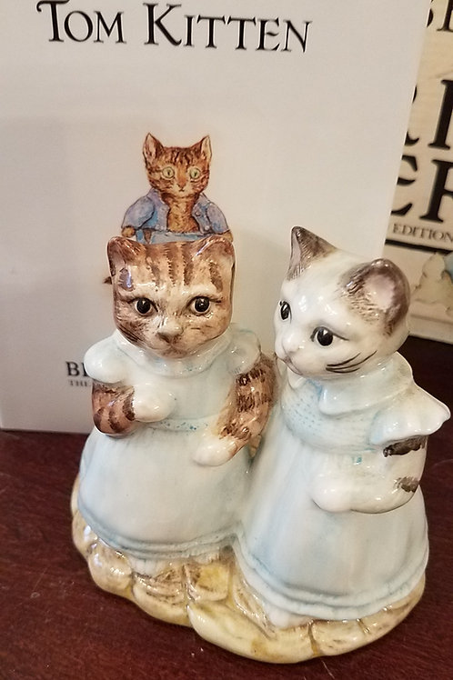 Mittens and Moppet, Beatrix Potter Figurine BP6a