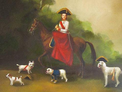 """Janet Hill Art Print:  Leader Gracie, 8.5""""x11"""""""