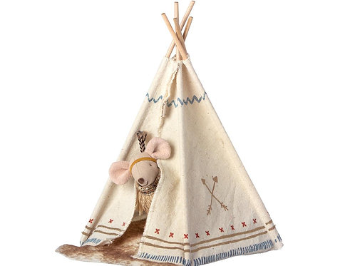 Little Feather Sister Mouse with Tent