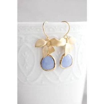 Periwinkle Floral Earrings