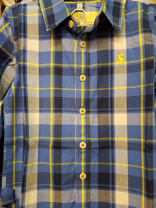 Blue Plaid Oxford Shirt