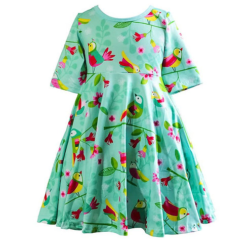 Rainbow Bird Skater Dress