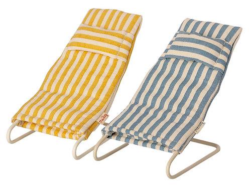 Maileg Mice Beach Chairs Set