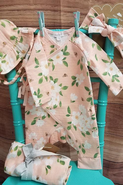 Angel Dear Magnolia Wrap Coverall- Newborn