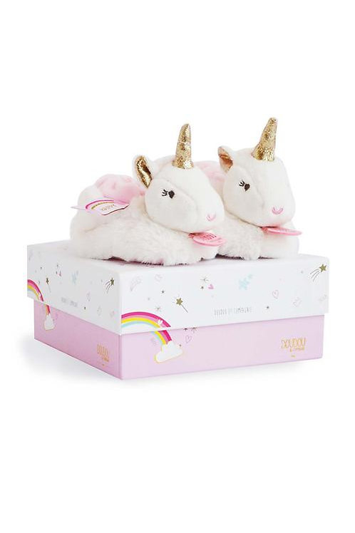 Unicorn Booties with Rattle