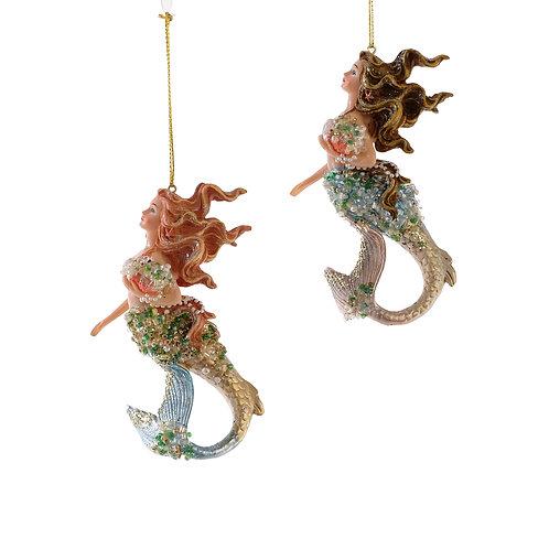 Katherine's Collection Treasures Mermaid Ornament