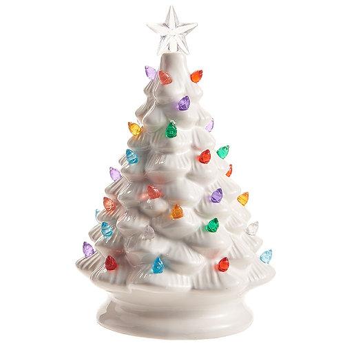 """Vintage 8"""" Ceramic  Lighted Tree"""