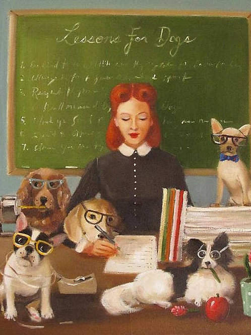 Janet Hill Print from Dog Governess Book: Lesson 7