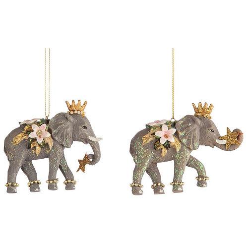 Magical  Elephants Ornaments - Set of 2