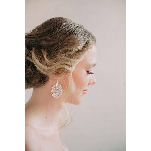 Silver Filigree  Big Dangle Earrings