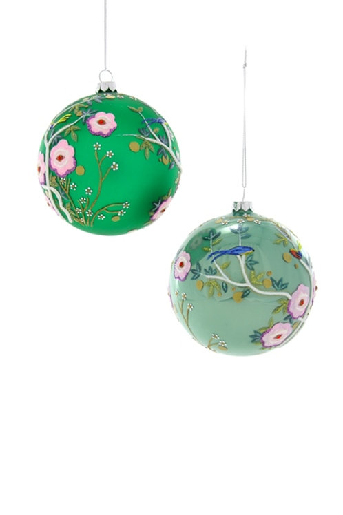 Well-Dressed  Animals Tree- CHINOSSERIE BIRD BAUBLE Ornaments