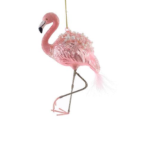 Katherine's Collection Flamboyant Flamingo Glass Ornaments