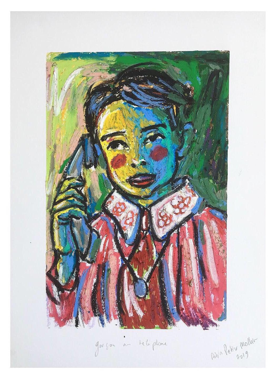 « Garçon au téléphone »