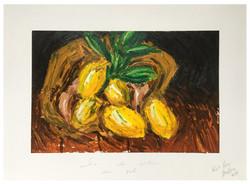 « Sac de citron sur sol »