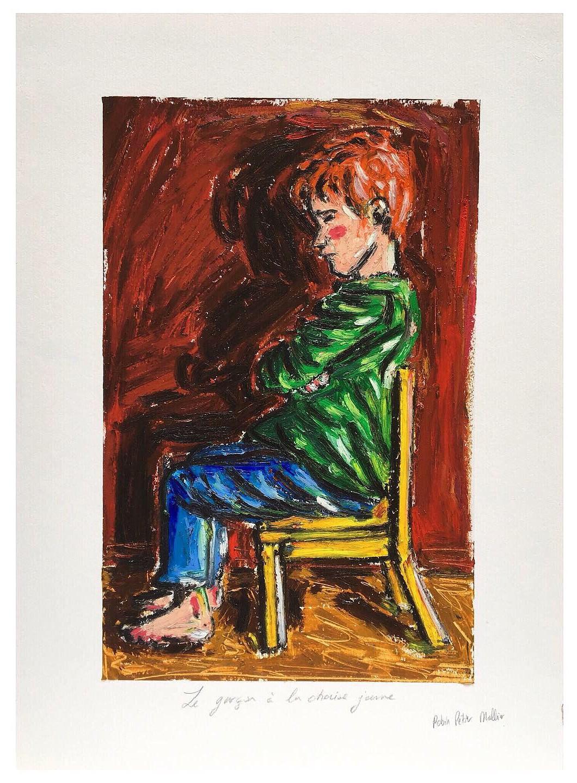 « Le garçon à la chaise jaune »