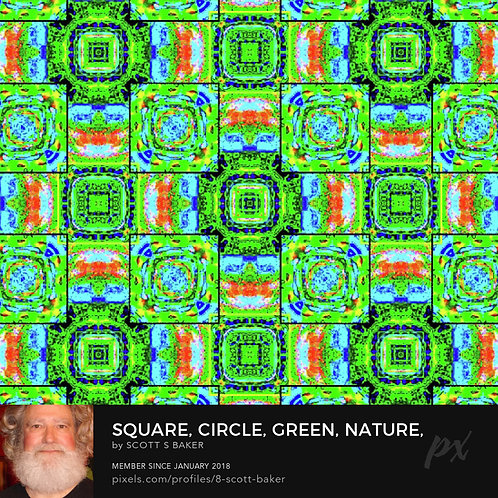Square, Circle, Green, Nature, TV