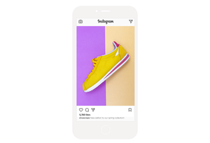 Instagram feed for an online sneaker store.