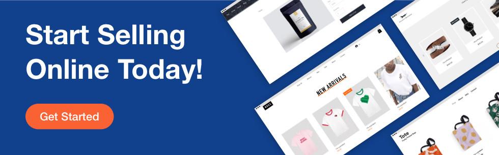 Wix Stores eCommerce platform banner.