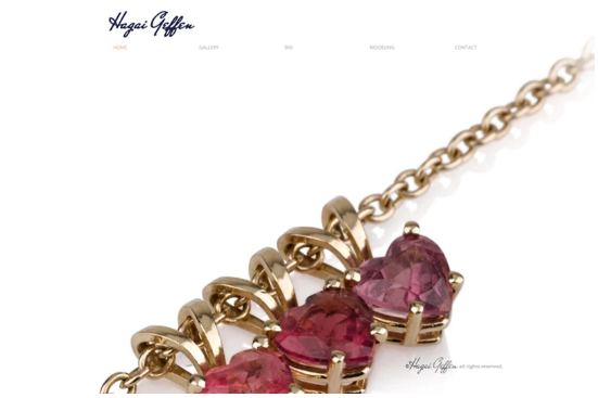 Ruby heart necklace on an eCommerce jewelry website.