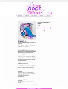 Sewn Ideas Patterns eCommerce website.