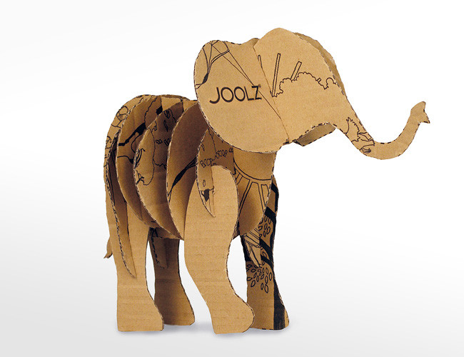 Joolz elephant product packaging example.