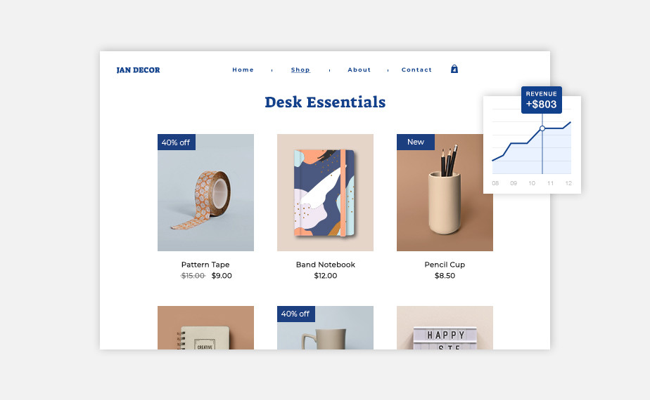 how to start an online store product gallery