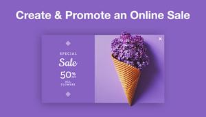 Create & Promote an Online Sale