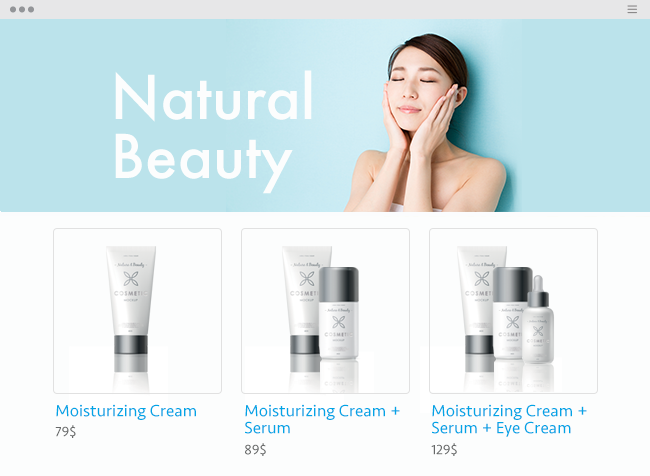 Natural beauty website.