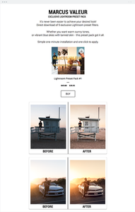 Marcus Valeur photography website.