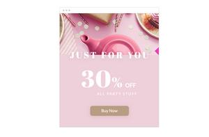 eCommerce website online promotion.